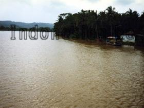 Fluss bei Cilacap